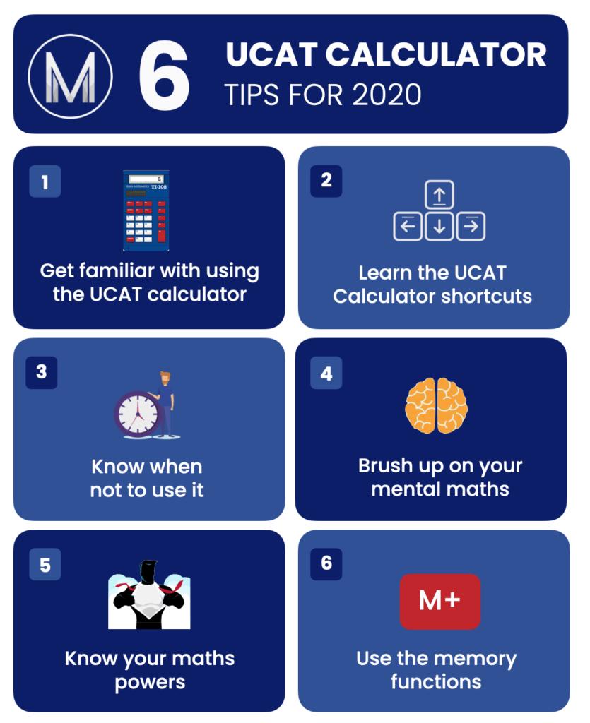 UCAT Calculator Tips Infographic