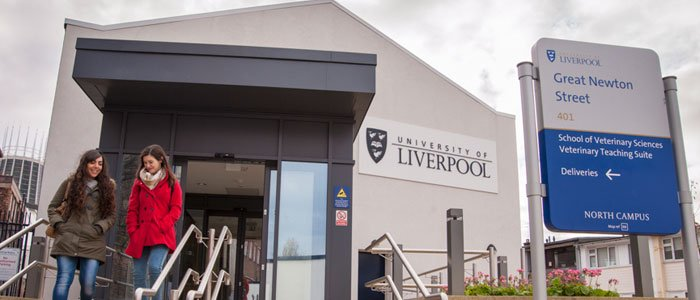 """LIVERPOOL VETERINARY SCHOOL: The University of Liverpool was established in 1881 and is renowned as the original """"Red Brick"""" university, with a long history of excellent teaching standards and research opportunities. The Veterinary Sciences course has been ranked in the Top 5 Veterinary Medicine courses in the UK, by the Complete University Guide 2020 Subject League Tables 2021."""