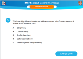 Historical Culture (IMAT Questions)